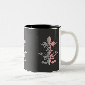 Fleur Heart Crown - Pink Two-Tone Mug