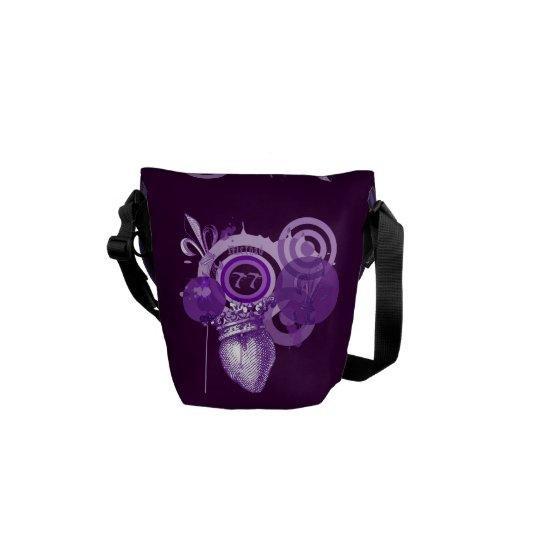 Fleur Heart Graphic Messenger Bags