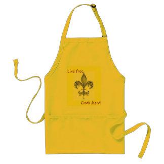 fleur, Live free, Cook hard, apron - Customized