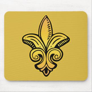 Fleur Medieval - Gold Mouse Mat