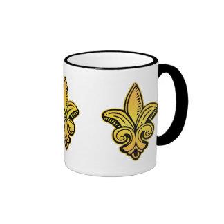 Fleur Medieval - Gold Ringer Mug