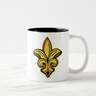 Fleur Medieval - Gold Two-Tone Mug