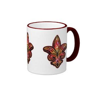 Fleur Medieval - Red Ringer Mug
