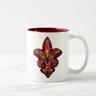 Fleur Medieval - Red Two-Tone Mug