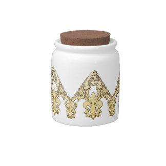 Fleur Pattern Candy Jar