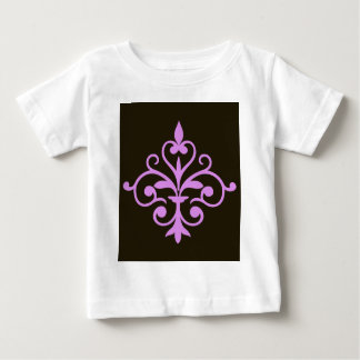 Fleur Pink on Brown Baby T-Shirt