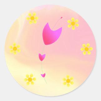 Fleur Round Sticker