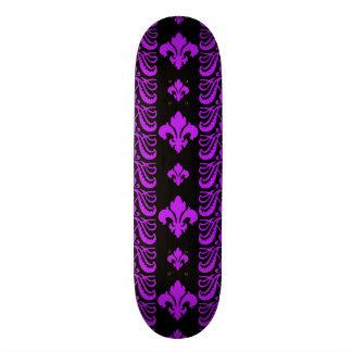 Fleur Stripe 1 Purple Skate Boards