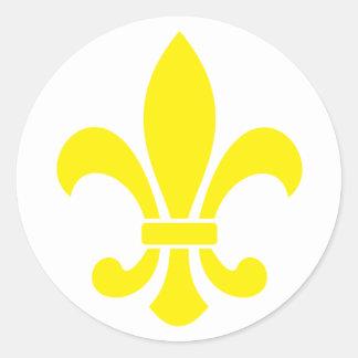 fleurdelis round sticker