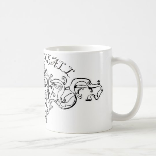 fleurdelisribbon-basketball. coffee mug