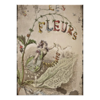 Fleurs and Fairy Woman Personalized Announcement