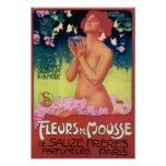 Fleurs de Mousse Perfume Poster