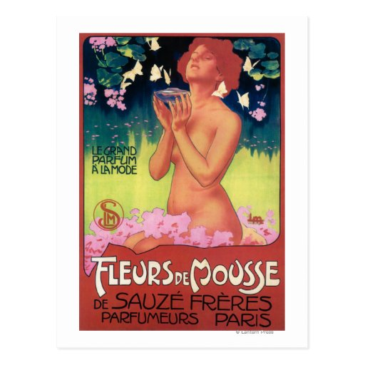 Fleurs de Mousse Perfume Poster Postcard
