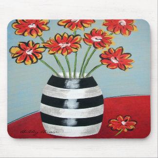 Fleurs & Stripes Mousepad