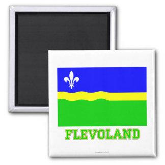 Flevoland Flag with name Magnet