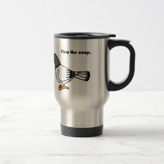 Flew the Coop Gray Pigeon Cartoon Mug