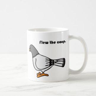 Flew the Coop Gray Pigeon Cartoon Mugs