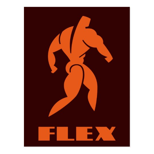 Flex Bodybuilding Postcard