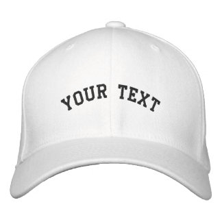 Flex-fit Wool Embroidered White Cap Template Embroidered Cap