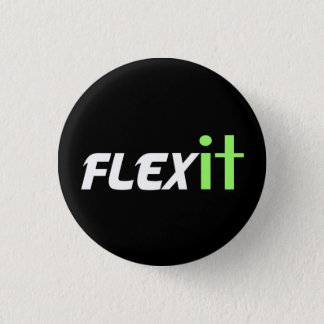 Flex it green 3 cm round badge