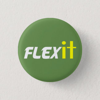 Flex it yellow 3 cm round badge