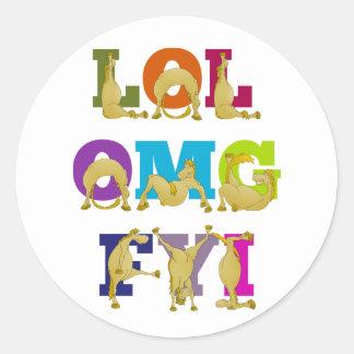 Flexi pony LOL FYI OMG Sticker
