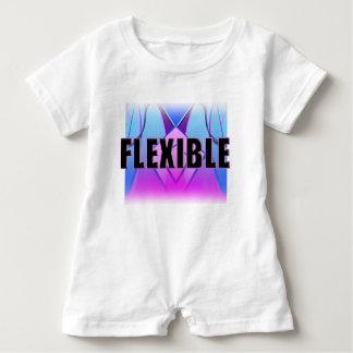 """Flexible"" Blue pink lavender Baby Romper Baby Bodysuit"