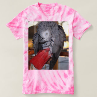 Flexible Congo African Grey Parrot with Red Tail T Shirts