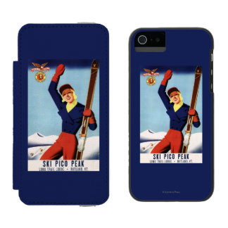 Flexible Flyer Pin-Up Skiing Girl Incipio Watson™ iPhone 5 Wallet Case