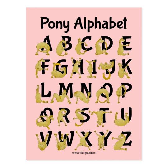 Flexible Pony   Alphabet Chart Postcard