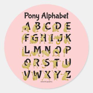 Flexible Pony | Alphabet Chart Sticker