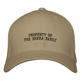Flextwill Cap Property of Shema Family Embroidered Baseball Cap