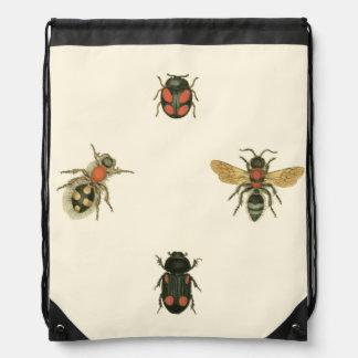 Flies and Beetles by Vision Studio Drawstring Bag