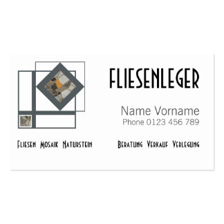 fliesenleger pack of standard business cards