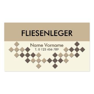 Fliesenleger craftsman pack of standard business cards