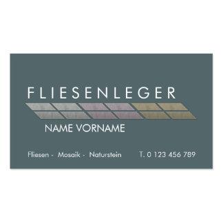 fliesenleger pack of standard business cards