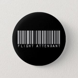 Flight Attendant Bar Code 6 Cm Round Badge