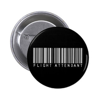 Flight Attendant Bar Code 6 Cm Round Badge