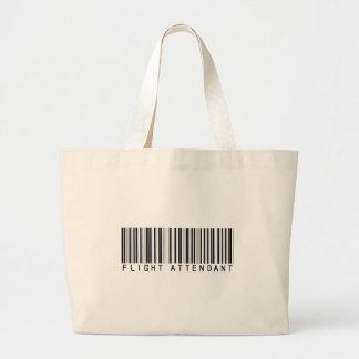 Flight Attendant Bar Code Canvas Bags