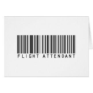 Flight Attendant Bar Code Greeting Card
