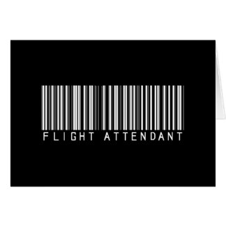 Flight Attendant Bar Code Greeting Card