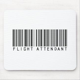 Flight Attendant Bar Code Mouse Mats