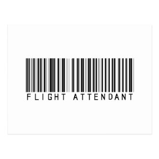 Flight Attendant Bar Code Post Card