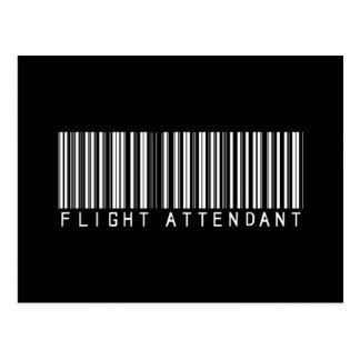 Flight Attendant Bar Code Postcard