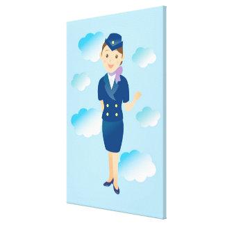 Flight Attendant Canvas Print