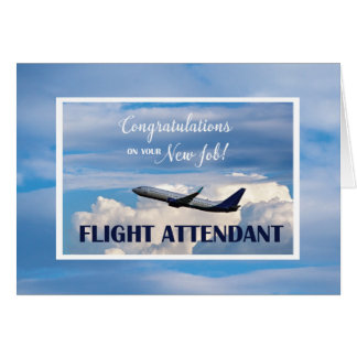 Flight Attendant, Congratulations New Job, Airplan Card