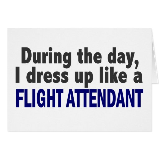 Flight Attendant During The Day Card