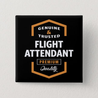 Flight Attendant | Gift Ideas 15 Cm Square Badge