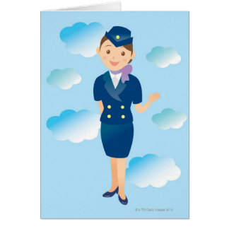 Flight Attendant Greeting Card