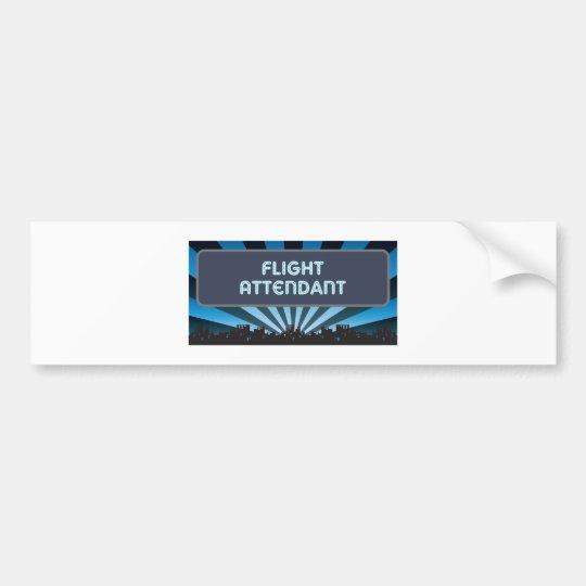 Flight Attendant Marquee Bumper Sticker